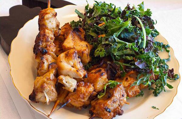 african-cuisine-kabobs-salad